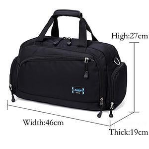 Image 2 - Gym Bags Men Sports Fitness Pack Cylinder One Shoulder Sport Bag Womens Handbags Travel Bags Nylon Waterproof Handbag Package