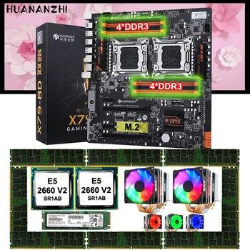 Материнская плата HUANANZHI X79-8D с 512G NVMe M.2 SSD Dual CPU Xeon E5 2660 V2 охладители большой марки памяти 128 ГБ (8*16 Гб) 1866 REG ECC
