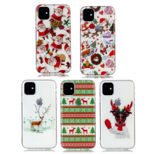 For iPhone 8 7 Plus Phone Case For iPhone 11 Pro Max XS Max XR X 6 6S Case Christmas pattern Transparent Soft Back Cover new iphone case for iphone 11 for iphone11 pro max 5 8 inches 6 1 inches 6 8 inches 6 6s 7 8 plus ix xr max x fashion back cover