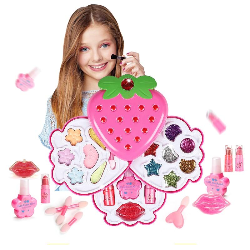 Набор для макияжа для девочек, игрушки, принадлежности для макияжа, детские игрушки для ролевых игр, безопасный нетоксичный туалетный Косметическая Полировка Ногтей, игрушки, подарки-in Красивые и модные игрушки from Игрушки и хобби on AliExpress - 11.11_Double 11_Singles' Day