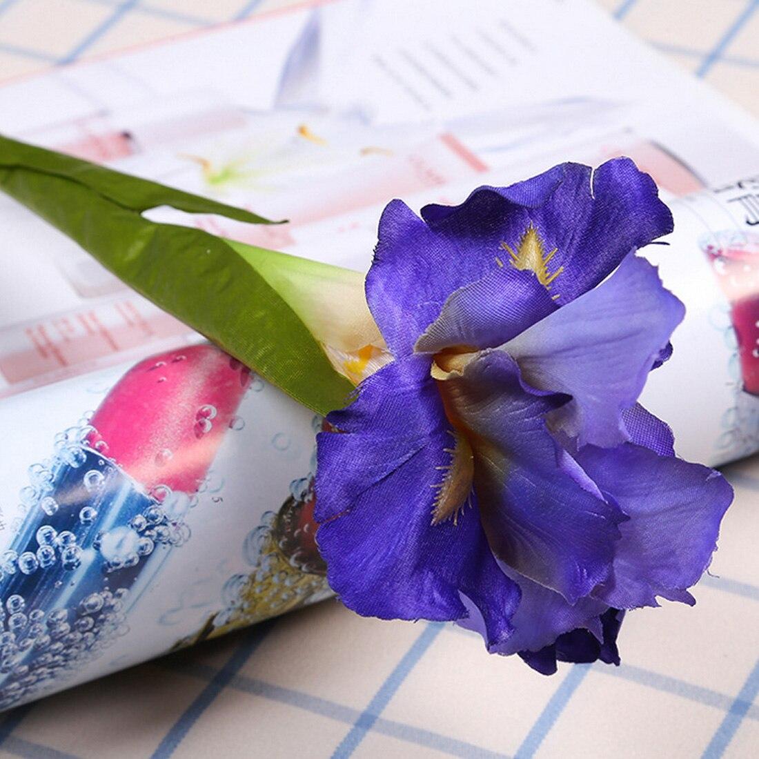 1PCS 66cm Artificial Flower Fake Irish Iris Flower Branch For Spring Wedding DIY Wreath Mini Head Flower For Wedding Home Decor
