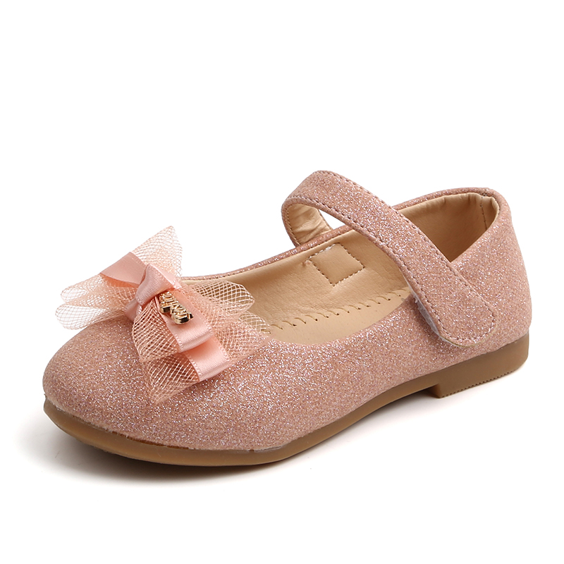 Girls Party Shoes Gold Pink Princess
