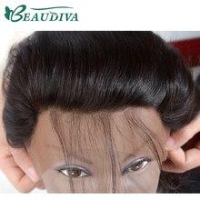 Beaudiva saç kulak için kulak dantel ön kapatma 13X4 ücretsiz bölüm ile bebek saç 100% brezilyalı düz insan saçı kapatma olmayan Remy