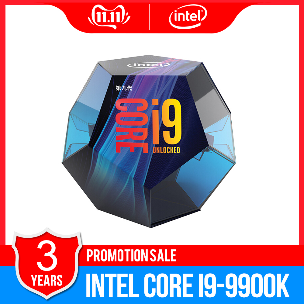 Intel Core i9 9900K Desktop Processor 8 Cores up to 5.0 GHz Turbo unlocked LGA1151 300 Series 95W new 100% Original CPU-in CPUs from Computer & Office