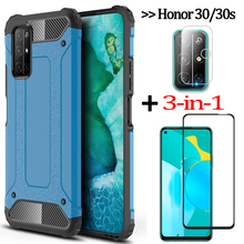 3-in-1 camera film + glass case for honor 30s huawei honor x10 phone cases honor 10 i/10lite cover for honor30 huawei honor 30 s