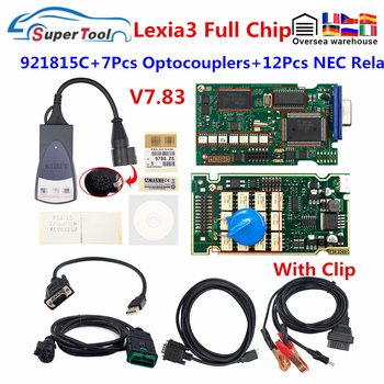 Herramienta de diagnóstico OBD2 Lexia 3 Chip completo Diagbox PP2000 Lexia3 V7.83 Fireware 921815C Lexia3 para Citroen para Escáner de código Peugeot