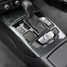 Автомобильный Стайлинг консоль переключения передач Панель рамка Накладка полосы для Audi A6 C7 2012- интерьерные аксессуары наклейки из углеродного волокна