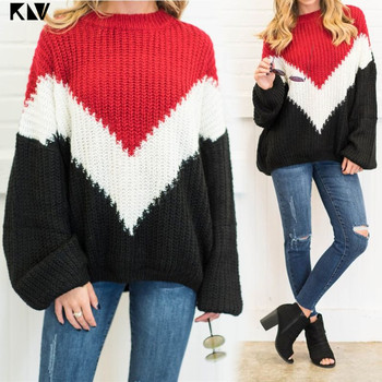 red\white\black stiching color sweaters