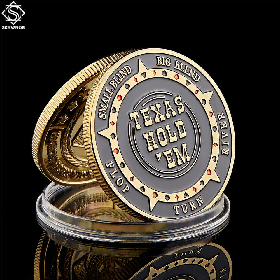 Texas Hold'em Flop Turn Rivier Grote Kleine Blind Poker Chip Guards Card Coin