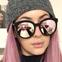 Di lusso Occhio di Gatto Occhiali Da Sole Donne Del Progettista di Marca 2020 A Buon Mercato Scudo Specchio Retro Pilota Occhiali Da Sole Femminile Occhiali Da Sole Per Le Donne UV400