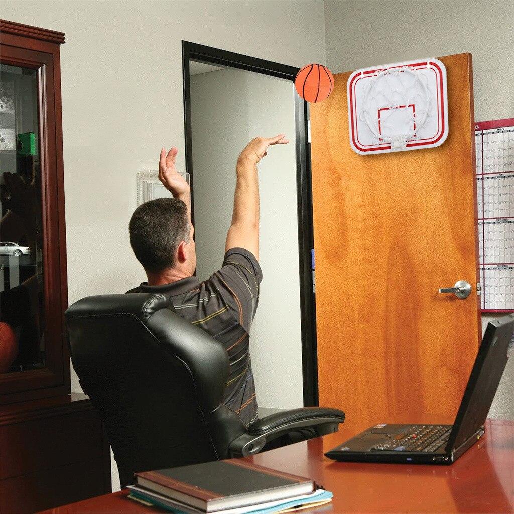 Портативный смешной Мини-Баскетбольный обруч, набор игрушек для дома, баскетбольные фанаты, спортивная игра, набор игрушек для детей, взрос...
