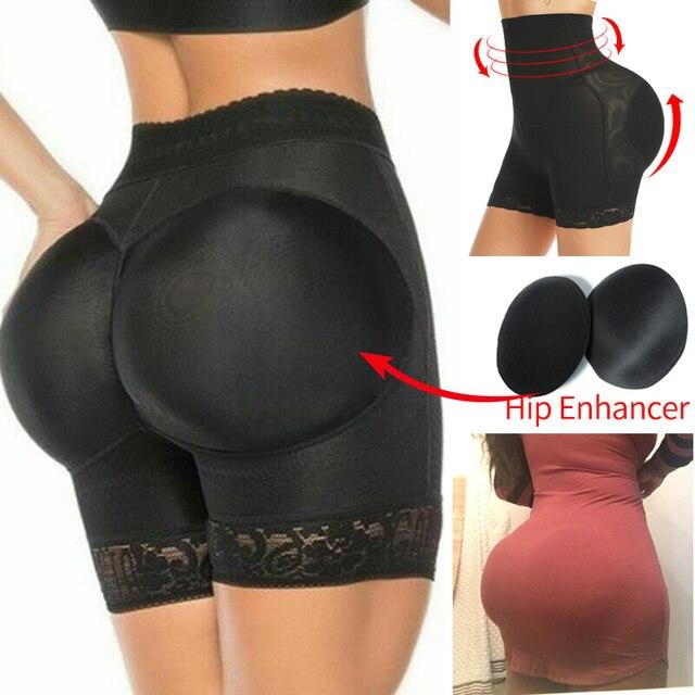 Womens Padded Shapewear Hip Enhancer Shorts High Waist Body Shaper Panty Padded Pad Butt Lifter Booty Waist Trainer Control