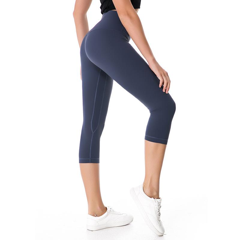 Eshtanga Woman Capris Top Quality Women Yoga High Elastic Waist Solid Skinny Stretch Leggings Size XXS-XL