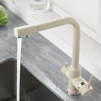 Kitchen Filtered Faucet Balck with Dot Brass Purifier Dual Sprayer Drinking Water Tap Vessel Sink Mixer Torneira - discount item  55% OFF Kitchen Fixture