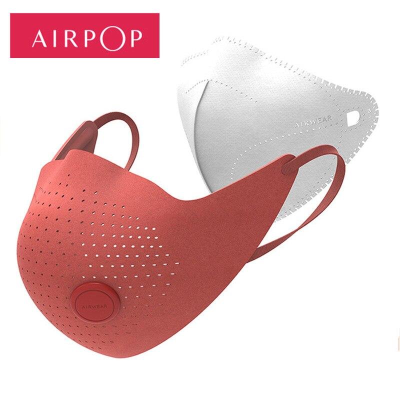 Xiaomi Mijia  AirPOP Air Wear PM0.3 / Pm2.5 Anti-haze Face Mask With 2pcs Filter Adjustable Ear Hanging Comfortable Face Masks