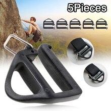 5Pcs Side Webbing Adjustable Buckle w/ Quick Release Hook Outdoor Slimwaist Molle Tactical Backpack Straps Parts Hardware 25mm buckle straps zip backpack