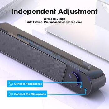 Computer Speakers 4D Stereo Surround Soundbar Bluetooth Speaker for PC Laptop Notebook Home Theater Full Range Loudspeakers 6