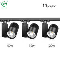20W Track Light LED Rail Lamp Dimmable  Shoes  Clothing Store 2/3/4 Wire 3 Phase Spotlights Systems track Lights Fixtures