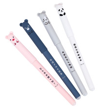 4Pcs/Bag Cute Kawaii Cartoon Cat Gel Ink Pen Ballpoint 0.35mm Blue Ink Stationery School Office Pens Kids Students Pen