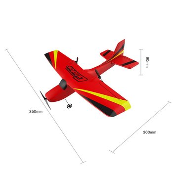 Z50 2.4G 2CH 350mm Micro Wingspan Remote Control RC Glider Airplane Plane Fixed Wing EPP Drone with Built-in Gyro for Kids 5