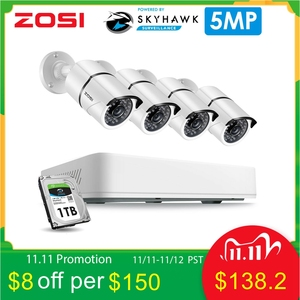 Image 1 - ZOSI 8CH H.265+ HD 5.0MP Security Camera System with 4 x 5MP HD Outdoor/ Indoor CCTV Camera Home VideoSurveillance Kit