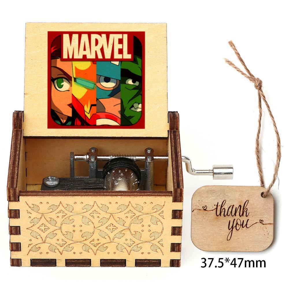 Лидер продаж, деревянная музыкальная шкатулка с 3D принтом, резная музыкальная шкатулка, музыкальная шкатулка в ретро стиле, Рождественский ...