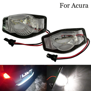 For Acura MDX RL TL TSX ILX Car Led Number License Plate Lights Lamp Tail Light car accessories For Honda Civic Accord City MK4 image