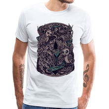Flower Owl T-shirt For Men 100% Cotton Halloween Tops TShirt Retro Short Sleeve Mens T Shirts Summer Autumn Crewneck Streetwear(China)