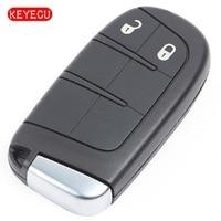 Keyecu 2 Button Smart Remote Key 433MHz ID46 CHIP for Dodge Jeep Fiat Chrysler GEN4 TOMBSTONE PROXIMITY REMOTE FCC: M3N 40821302