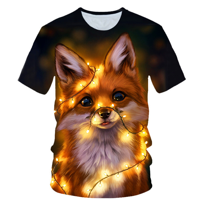3D Printed Animal Fox T Shirts Summer For Men Women High Quality  Funny Tshirt Casual Short Sleeves