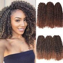 Leidenschaft Twist Haar Marley Bob Synthetische Afro Loki 8 Zoll Frühling Twist Faux Loks Häkeln Geflecht Haar Verlängerung für Frauen schwarz