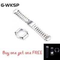 DW5600 GW M5610 Metal Watch Strap Bezel Accessories 100%Stainless Steel Get Free Silicone Set