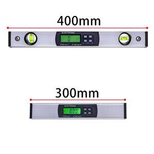 Image 2 - דיגיטלי מד זוית זווית Finder אלקטרוני רמת 360 תואר Inclinometer עם מגנטים רמת זווית מדרון tester שליט 400mm