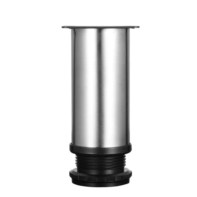1pcs Stainless Steel Furniture Leg Adjustable Cabinet Foot Round Tube Cabinet Table Sofa Bed Feet Furniture Legs Feet