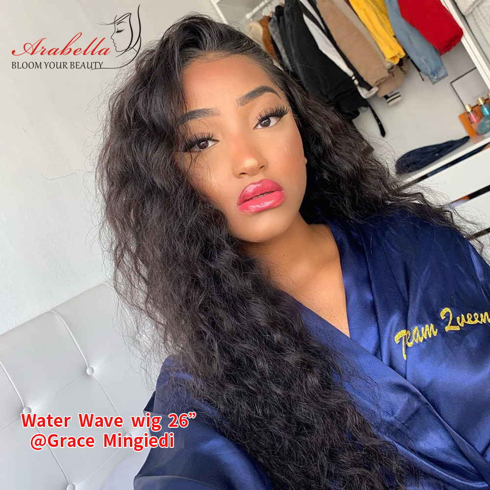 Water Wave 13*4 Lace Front  Wigs 180% Density Arabella  PrePlucked Lace Frontal Wig With Baby Hair Lace Front Wig 4