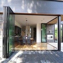 Алюминиевые двери/складные алюминиевые двери/складные стеклянные двери/наружные двери/двустворчатые двери/Раздвижные складные двери