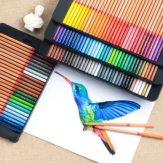 Marco Renoir Fine Art 12/24/36/48/72/100/120 Professional Colored Pencils Crayons Colouring Drawing Set 1