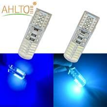 2X Signal lumière de coffre T10 W5W DC 12V Canbus Silicone coquille dôme ampoule IP65 voiture 4014 24SMD Led Parking antibrouillard Auto voiture-style