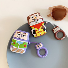 Cartoon Toy Story Woody 3D Cute Buzz Lightyear Case For Apple Airpods Wireless Bluetooth Headphone Air pod 2 Acessories