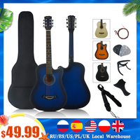 Full Pack 38 inch Beginner Colour Basswood 6 steel string Acoustic Guitar Music Instrument with free Bag string capo strap pick