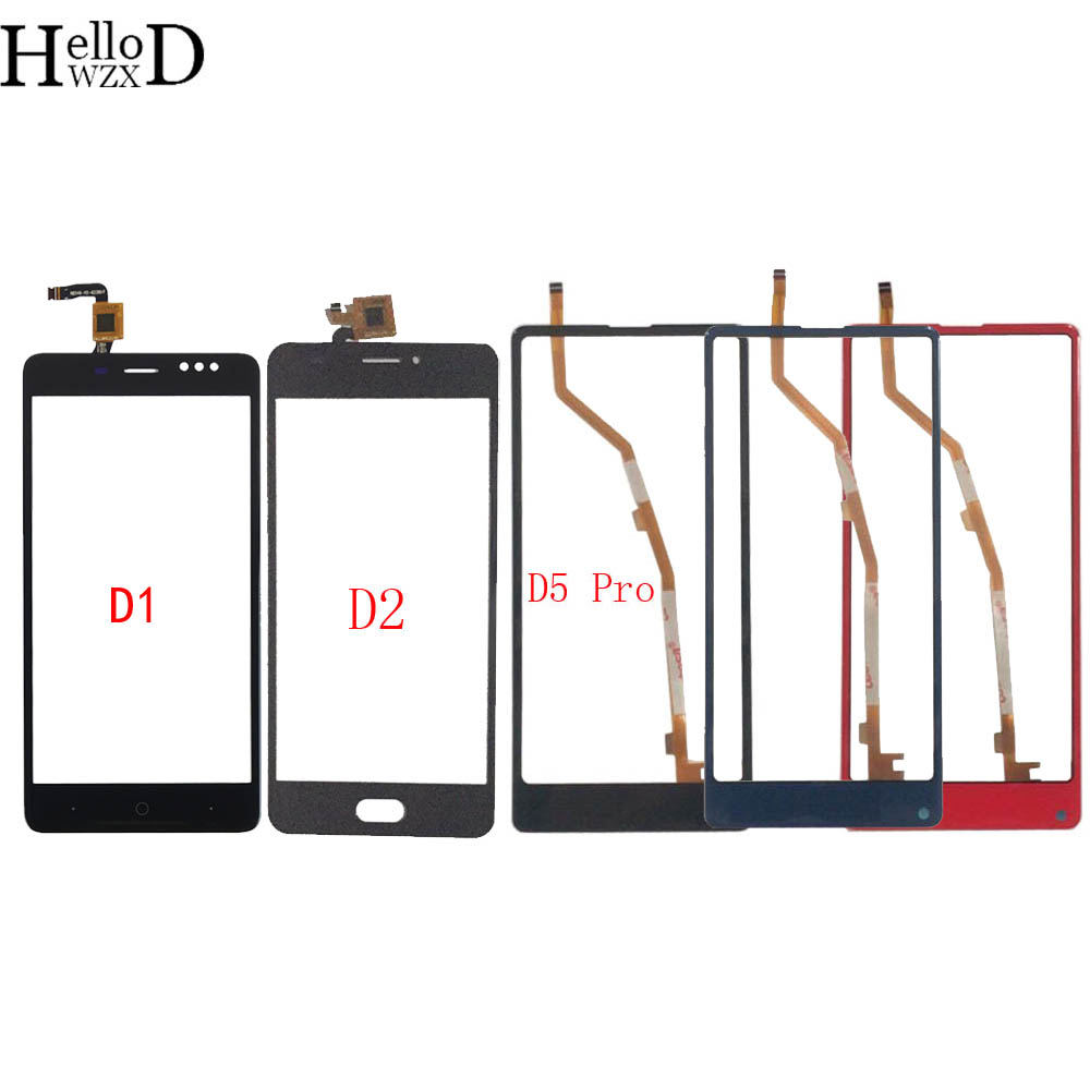 Touch Screen Digitizer Panel For Bluboo D1 D2 D5 Pro TouchScreen Front Glass Touch Screen Lens Sensor 3M Glue Wipes