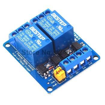 цена 3.3V 5V 12V 24V 2 Channel Relay Module High and low Level Trigger Dual Optocoupler Isolation Relay Module Board онлайн в 2017 году