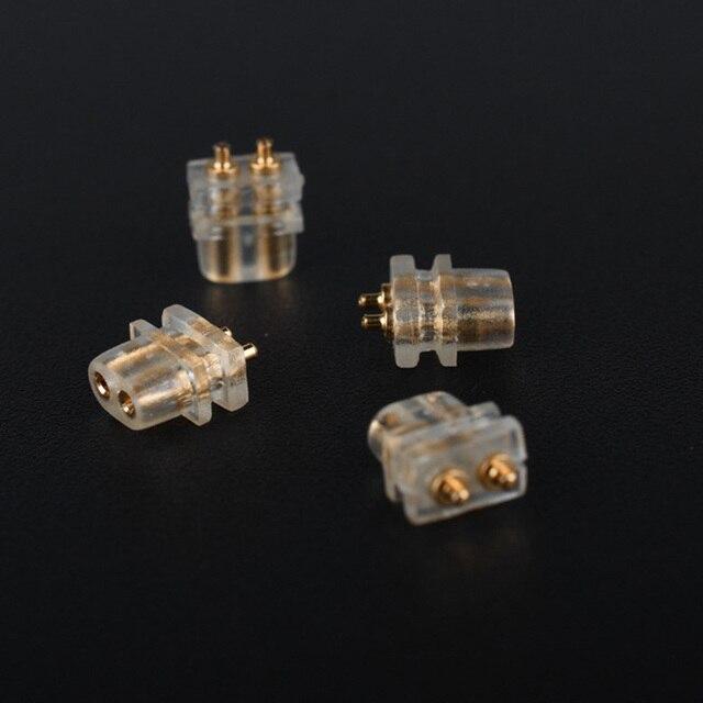 FDBRO 2 pièces 0.75  78 double aiguille prise ue QDC personnalisé bricolage écouteur réparation prise plate femelle