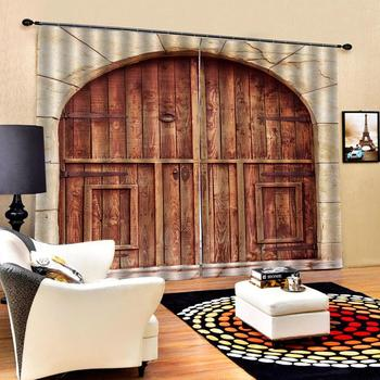 European arch door curtains brown curtain For Living Room Bedroom Drapes Cortinas Customized size