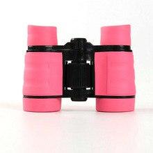 4x30 детский розовый Бинокль Карманный резиновый телескоп для детских игр на открытом воздухе