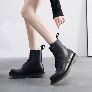 8-Eye Boots Women Leather Platform Doc Plus Size 35-46 Winter Ankle Boot Martins Casual Motorcycle Shoes Fashion Women Boots New