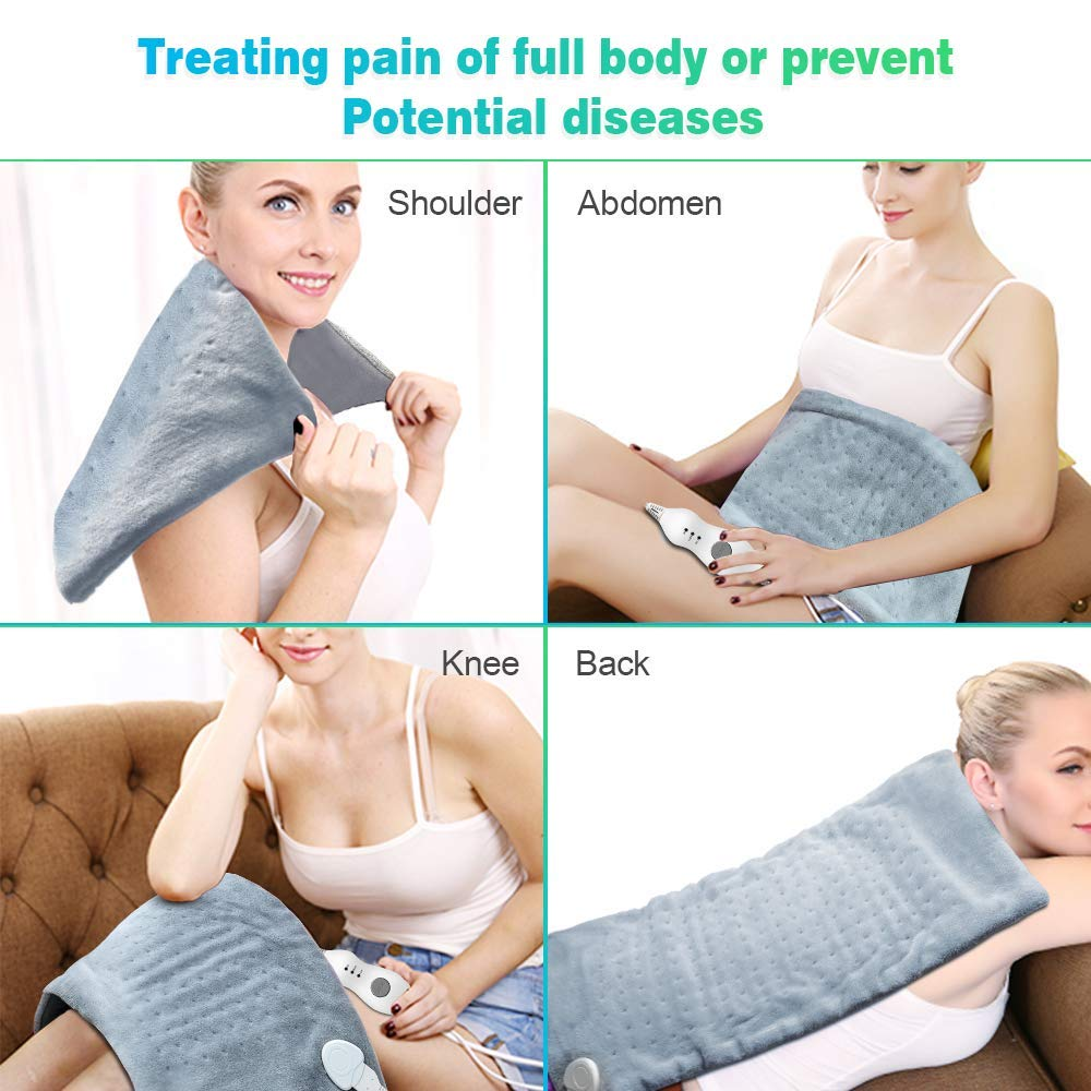 Extra Large 12*24'' 100 - 120V 85W Washable Electric Blanket Heating Pad 110V for Back Pain Relief Auto Off Body Warmer US Plug 3