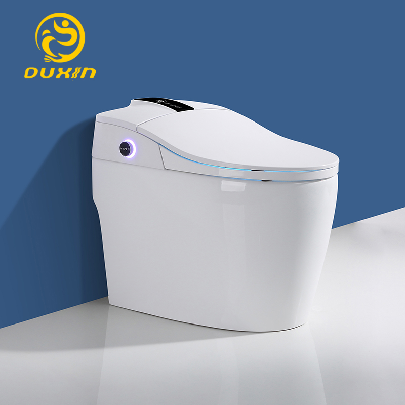 Smart toilet WC One piece toilet intelligent 110V Heated seats Wash and dry No water pressurefoot-feel flush limit 1