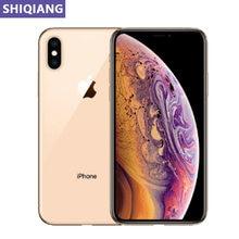 Desbloquear apple iphone xs original usado smartphone rosto id 5.8in 4 + 64/256gb telefones gps & nfc 7 + 12mp 1 cartão sim 4g lte telefone a12