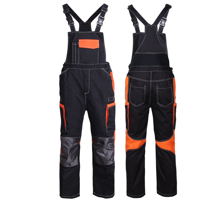 Men's Cargo Pocket Work Overall Workwear Bib Overall Twill Multi Pocket Working Mechanic Coverall Working Uniforms Work Jumpsuit